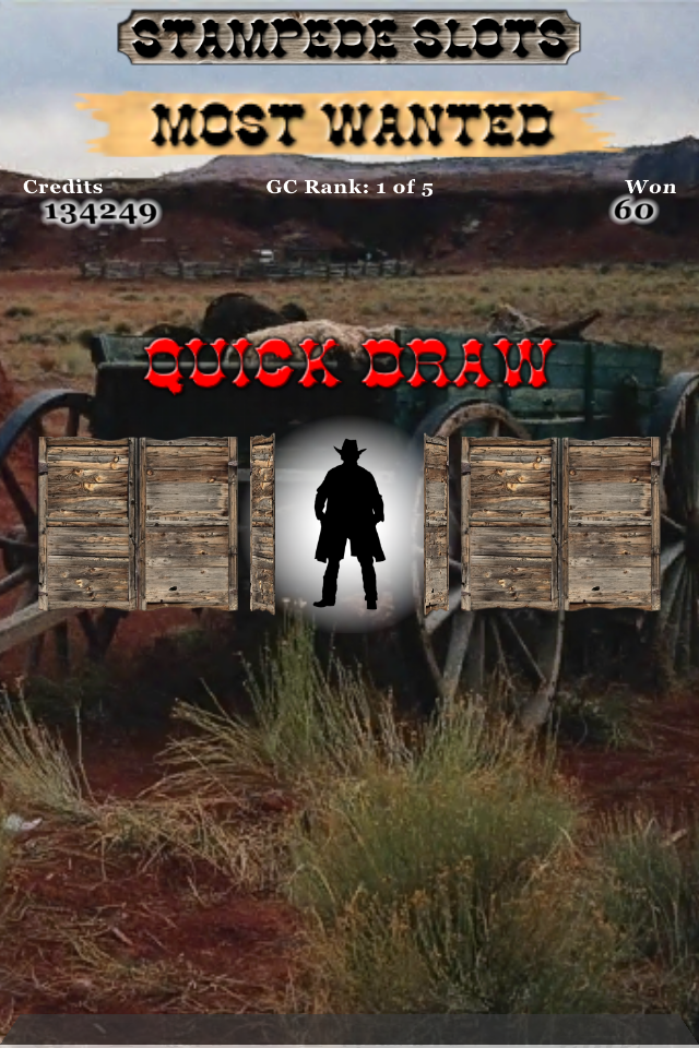 Screenshot Stampede Slots: Most Wanted w/iAd